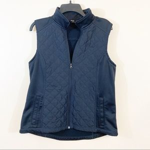 Fila | Quilted Black Vest